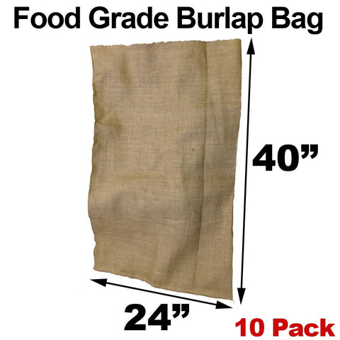 "Burlap Bags - 24"" x 40"" Food Grade (10 Pack) - HomeTex.ca"