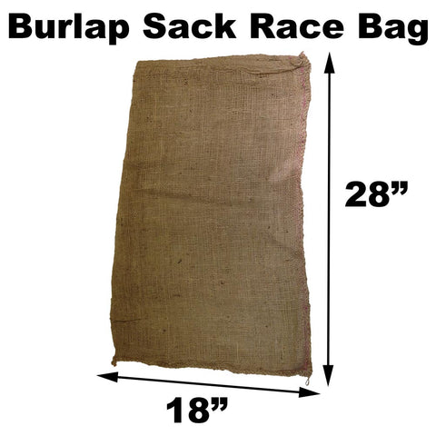 "Burlap Bags for Sack Races - 18"" x 28"" Child Size (10 Pack) - HomeTex.ca"