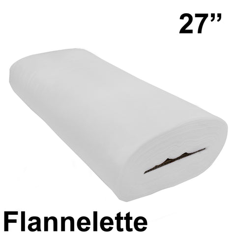 "White Cotton Flannelette 27"" Wide - HomeTex.ca"