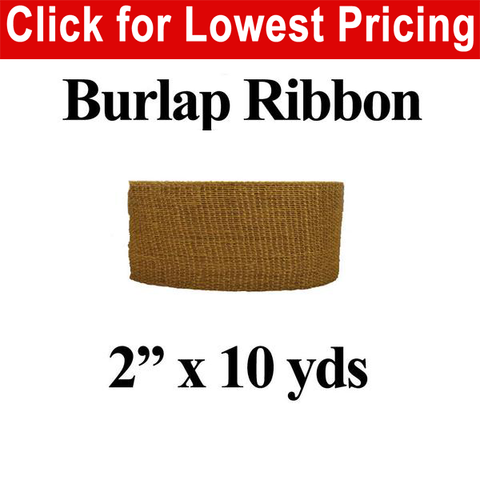 "2"" Burlap Ribbon (10 Yard Roll) - HomeTex.ca"