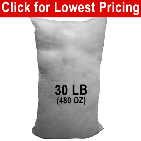 30 lb Bag - Polyester Stuffing (Bulk) - HomeTex.ca