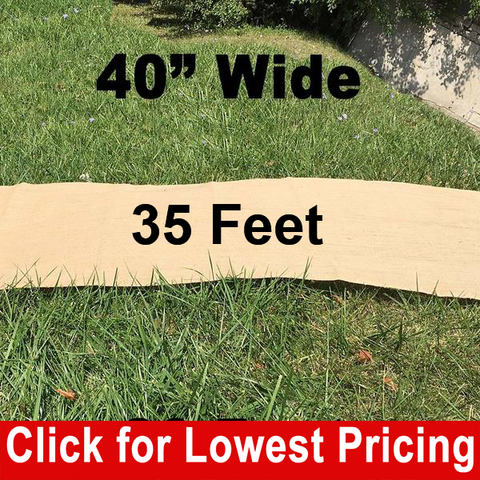 "40"" Wide Burlap Aisle Runner - 35 Feet - HomeTex.ca"