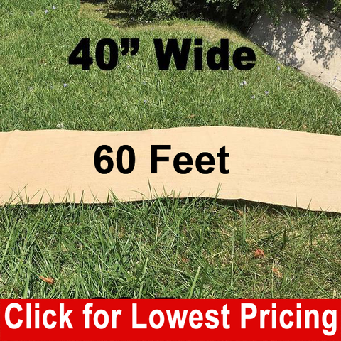 "40"" Wide Burlap Aisle Runner - 60 Feet - HomeTex.ca"