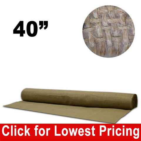 "40"" Wide Burlap Full Roll (25 yards) - HomeTex.ca"