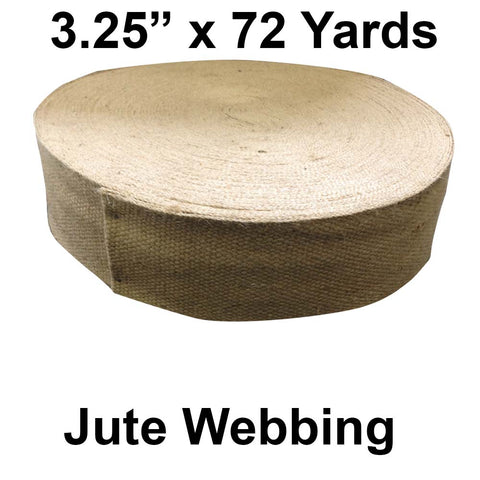 "Jute Webbing - 3.25"" Wide x 72 Yards (Natural) - HomeTex.ca"