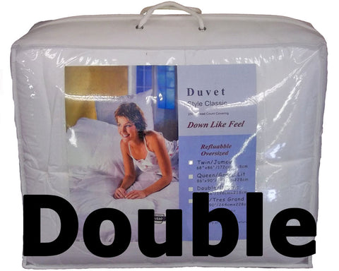 "Synthetic Down Like Duvet - Double Size (76"" x 86"") - HomeTex.ca"