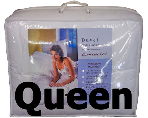 "Synthetic Down Like Duvet - Queen Size (86"" x 90"") - HomeTex.ca"