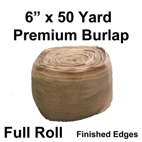 "Premium Burlap 6"" Wide x 50 yards (Finished edges) - HomeTex.ca"