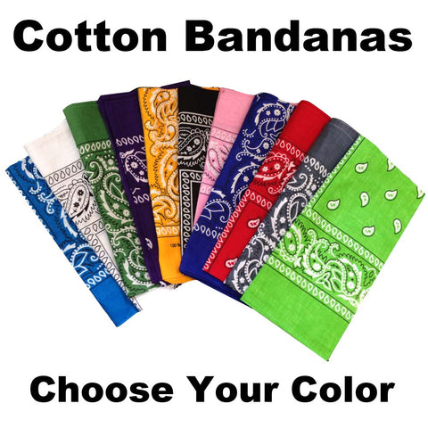 Bandanas- 100% Cotton- Single Gift FREE with $100 order - HomeTex.ca