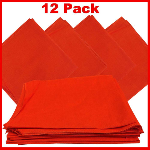 Orange Bandana - Dozen (Solid) - HomeTex.ca