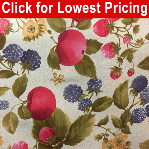 "54"" Oilcloth Printed Vinyl Tabling - Provence Full Roll (20 Meters) - HomeTex.ca"