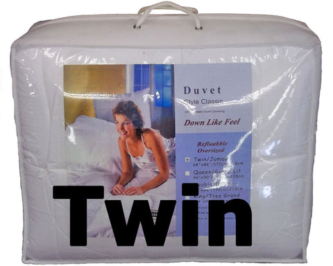 "Synthetic Down Like Duvet - Twin Size (66"" x 86"") - HomeTex.ca"