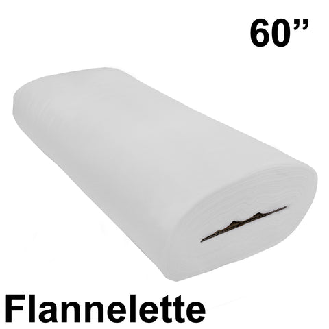 "White Cotton Flannelette 60"" wide - HomeTex.ca"