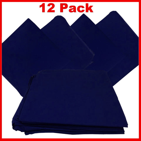 Navy Blue Bandana - Dozen (Solid) - HomeTex.ca
