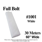 "Broadcloth #1001 Full Bolt 60"" Wide 30 Meters"