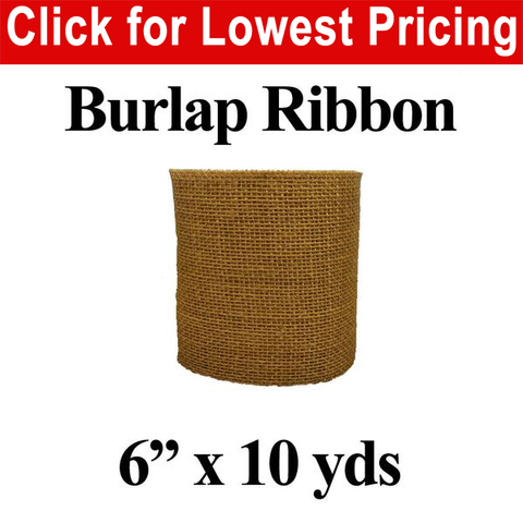 "6"" Burlap Ribbon (10 Yard Roll) - HomeTex.ca"