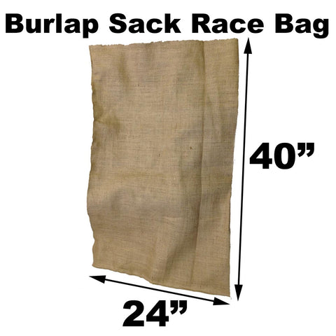 "Burlap Bags for Sack Races - 24"" x 40"" Adult Size (4 Pack) - HomeTex.ca"