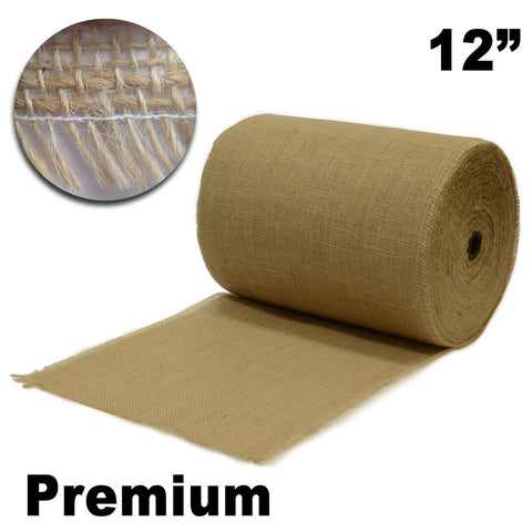 "Premium Burlap 12"" Wide x 50 Yards (Unfinished Edges) - HomeTex.ca"