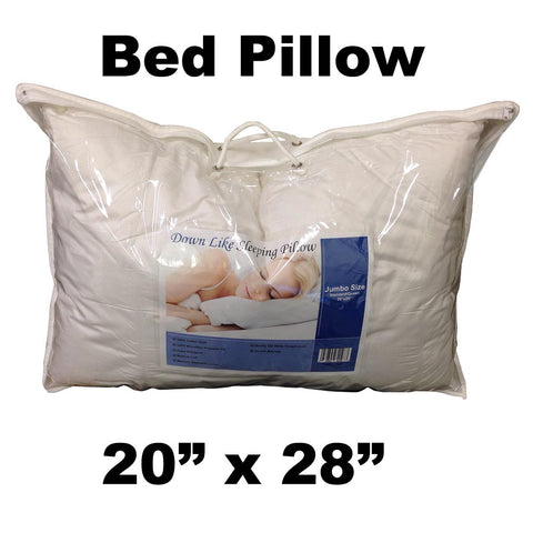 "Pillow Form 20"" x 28"" Standard - Bed Pillow (Synthetic Down Alternative) 840 g - HomeTex.ca"