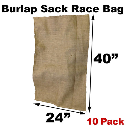 "Burlap Bags for Sack Races - 24"" x 40"" Adult Size (10 Pack) - HomeTex.ca"