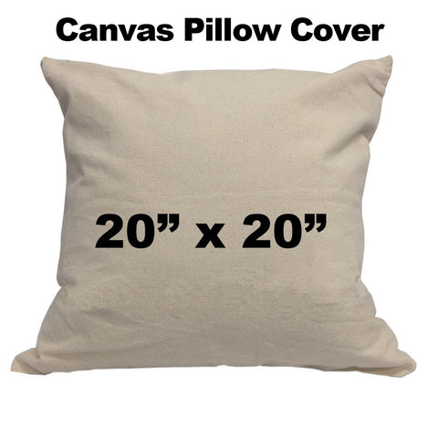 "Blank Cotton Canvas Pillow Cover - 20"" x 20"" FREE WITH $100 ORDER - HomeTex.ca"