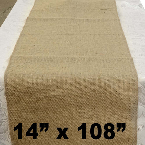 "Burlap Table Runner 14"" x 108"" - HomeTex.ca"