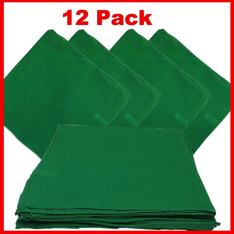 Green Bandana - Dozen (Solid) - HomeTex.ca