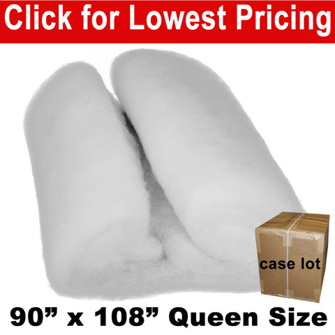 "Quilt Batting - Queen 90"" x 108"" (Case Lot Price) (18 Pieces) - HomeTex.ca"