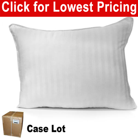 "Bed Pillow 20"" x 26"" Standard Size Damask Cover - Case Lot (20 Pieces) - HomeTex.ca"