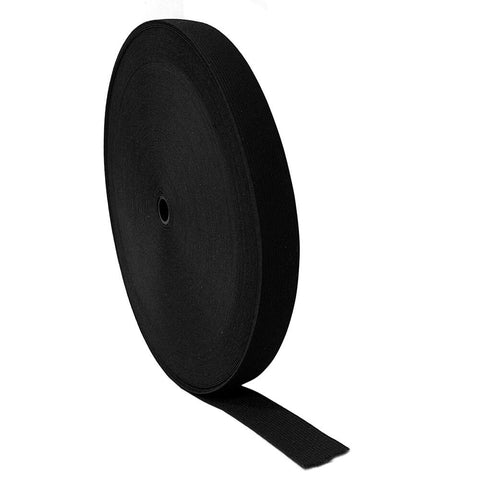 "1"" Black Elastic Roll (54 Yards) - HomeTex.ca"