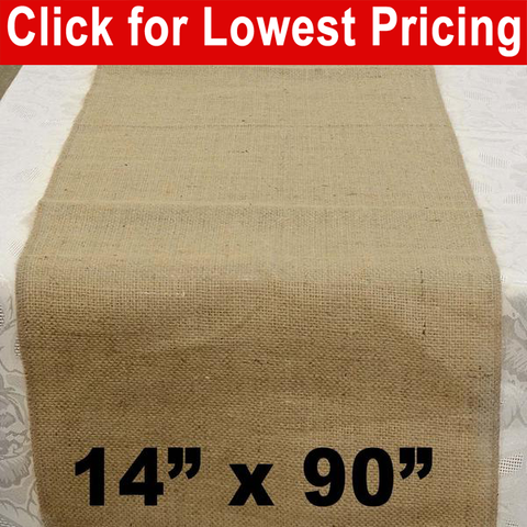 "Burlap Table Runner 14"" x 90"" - HomeTex.ca"
