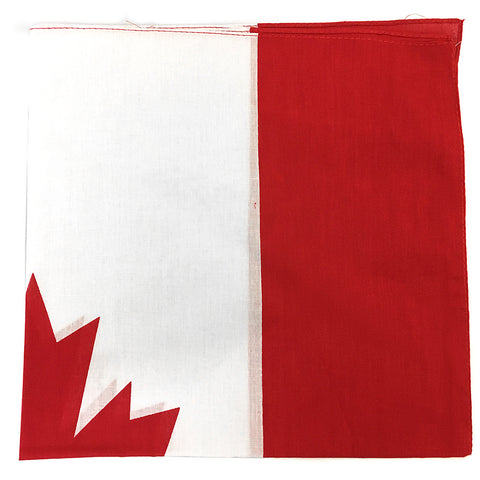 Bandana - 100% Cotton - Canadian Flag Design - Single FREE WITH $100+ ORDER - HomeTex.ca
