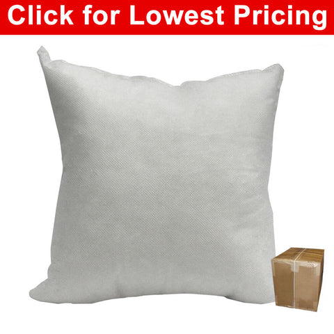 "Pillow Form 18"" x 18"" (Polyester Fill) (Case Lot - 25 Pcs) - HomeTex.ca"