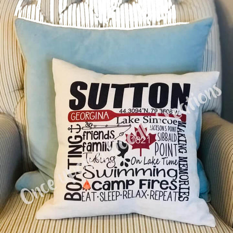 "Blank Sublimation Linen-Look Pillow Cover - 16"" x 16"" with 14"" wide zipper - HomeTex.ca"