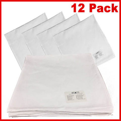 White Sublimation Bandana - 100% Polyester - Solid Color - 12 Pack - HomeTex.ca
