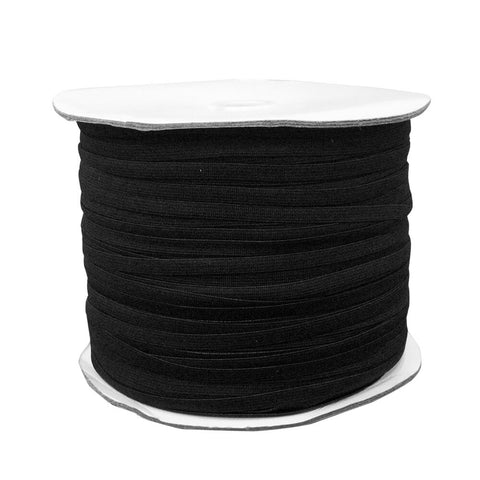 "1/4"" Black Elastic Roll (320 Meters) - HomeTex.ca"