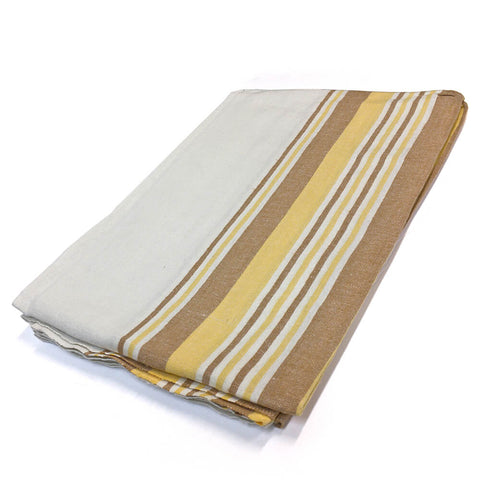 Flannel Blanket (Gold Colors) - HomeTex.ca