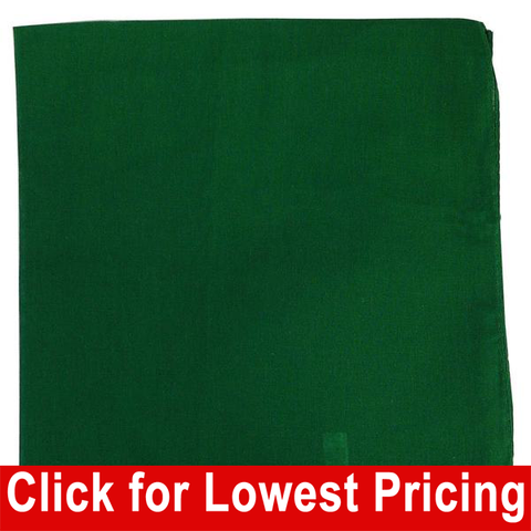 Green Bandanas - 100% Cotton - Solid Color Bandana - Single - HomeTex.ca