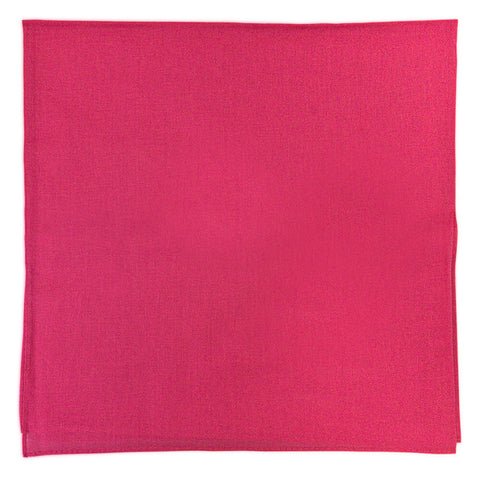 Hot Pink Bandana - Dozen (Solid) - HomeTex.ca