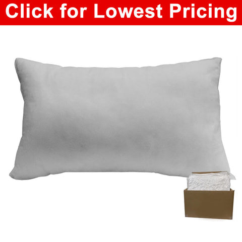 "Pillow Form 12"" x 18"" (Polyester Fill) (Case Lot - 20 Pcs) (Individually Bagged & Compressed) - HomeTex.ca"