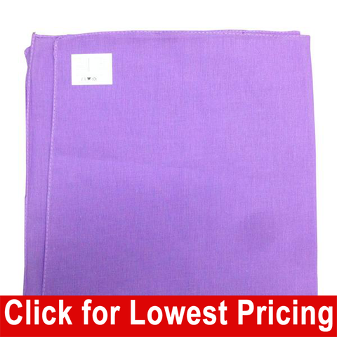 Lavender Bandana - 100% Cotton - Solid Color - 12 Pack - HomeTex.ca