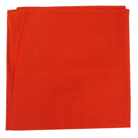 Orange Bandanas - 100% Cotton - Solid Color Bandana - Single - HomeTex.ca