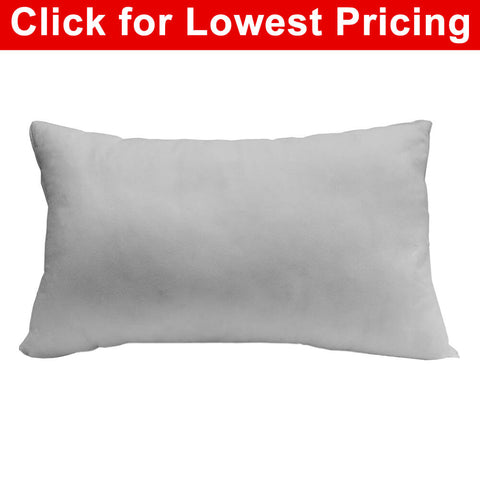 "Pillow Form 12"" x 20"" (Polyester Fill) oblong - HomeTex.ca"