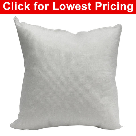 "Pillow Form 18"" x 18"" (Polyester Fill) - HomeTex.ca"