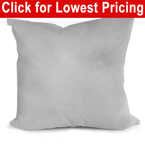 "Pillow Form 18"" x 18"" (Synthetic Down Alternative) - HomeTex.ca"