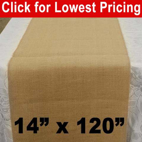 "Premium Burlap Table Runner 14"" x 120"" - HomeTex.ca"