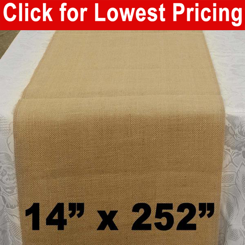 "Premium Burlap Table Runner 14"" x 252"" - HomeTex.ca"