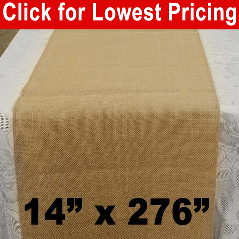 "Premium Burlap Table Runner 14"" x 276"" - HomeTex.ca"