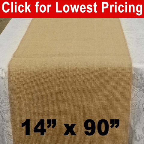 "Premium Burlap Table Runner 14"" x 90"" - HomeTex.ca"