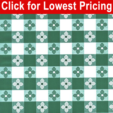 Printed Table Vinyl Full Roll (40 yards) - Tavern Check Green - HomeTex.ca
